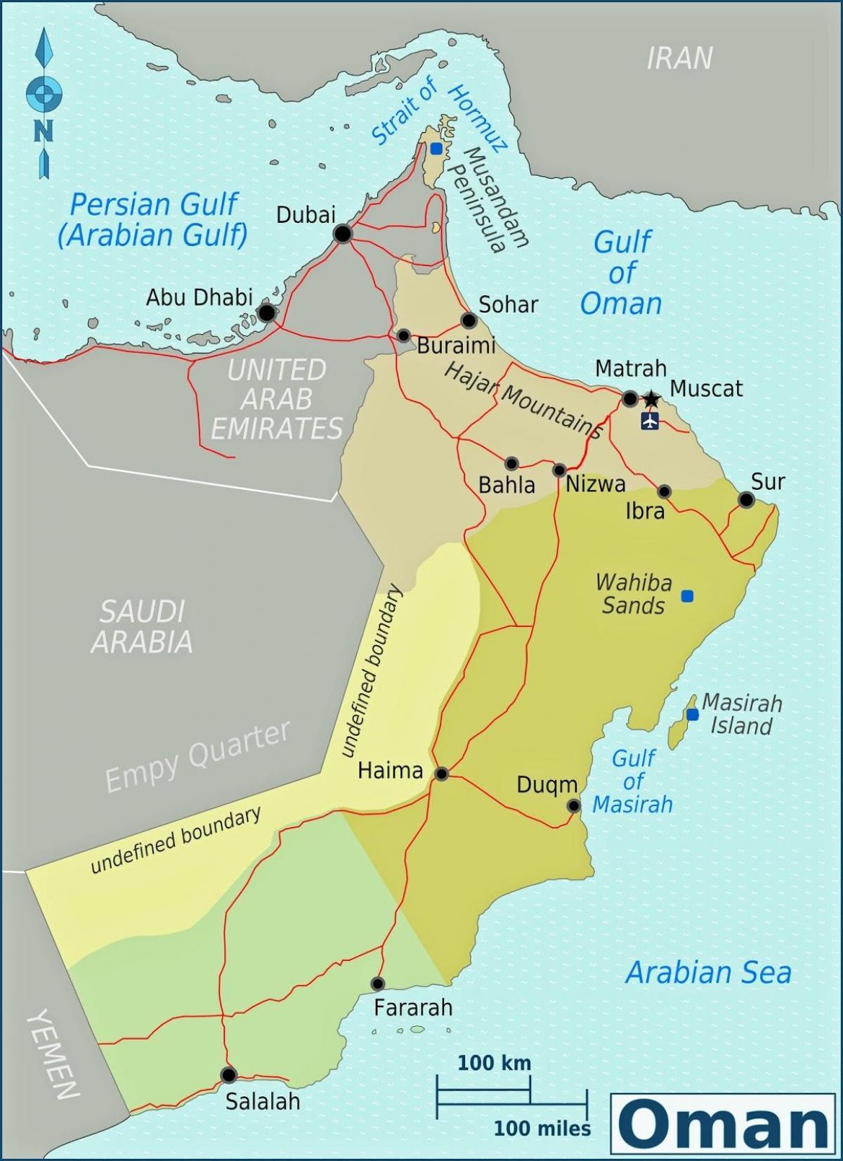 Duqm Oman map - Map of duqm Oman (Western Asia - Asia)